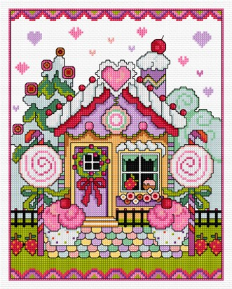 Fun and decorative.......this cross stitched Gingerbread House contains no calories!!