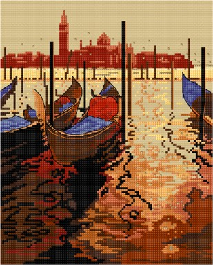 Beautiful Venice in cross stitch