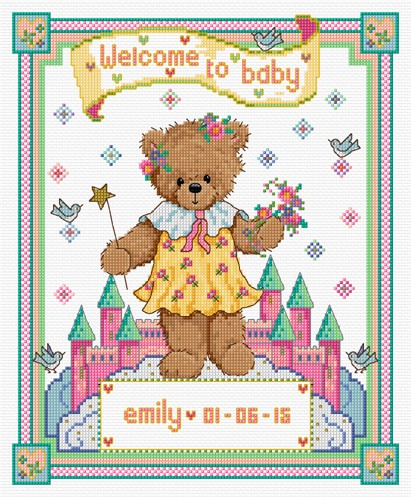 Cross stitch baby sampler