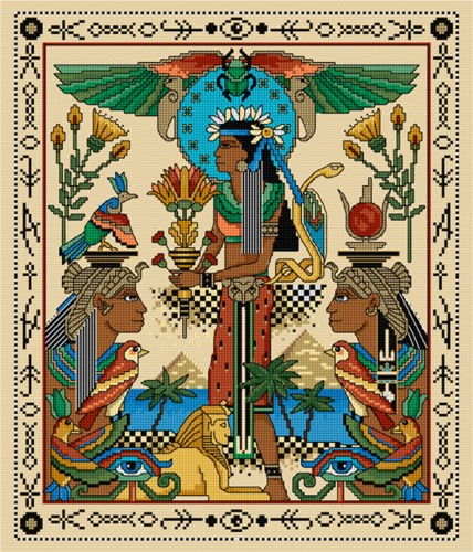 CrossStitch of classic Egyptian images