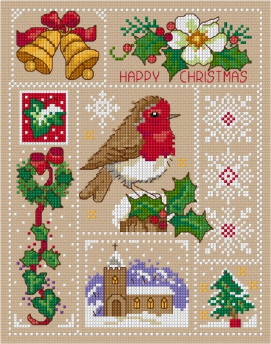 Cross stitch Christmas sampler