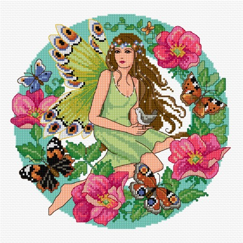 Cross stitch summer fairy