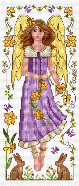 Cross stitch Spring angel