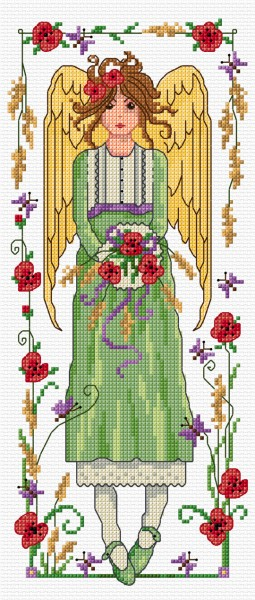 Cross Stitch Autumn angel