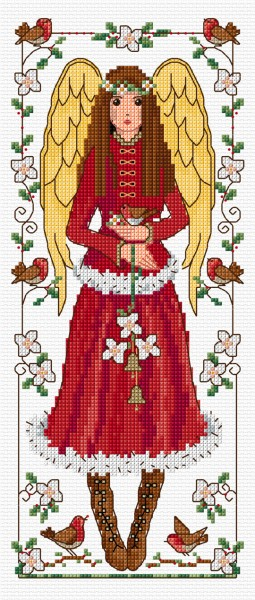Cross stitch Winter angel