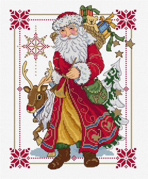 Santa in cross stitch