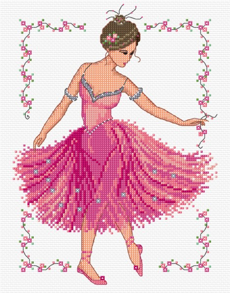 Ballerina in cross stitch