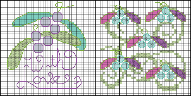 Cross stitch Christmas card chart
