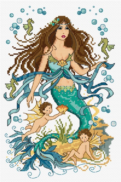 Cross Stitch mermaid