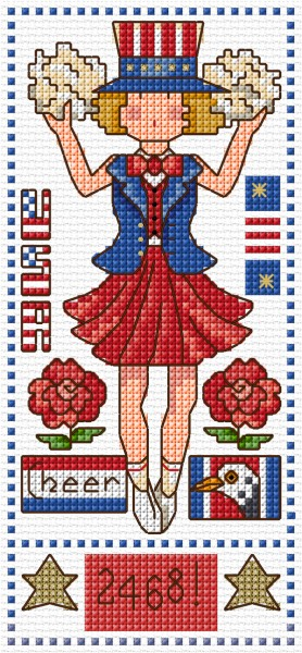 Cross stitch cheer leader