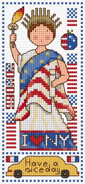 Cross stitch American doll