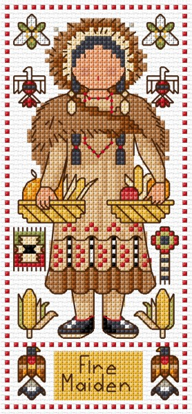 Cross stitch First nation doll