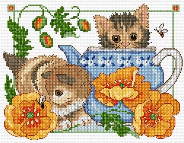 Cross stitch kittens