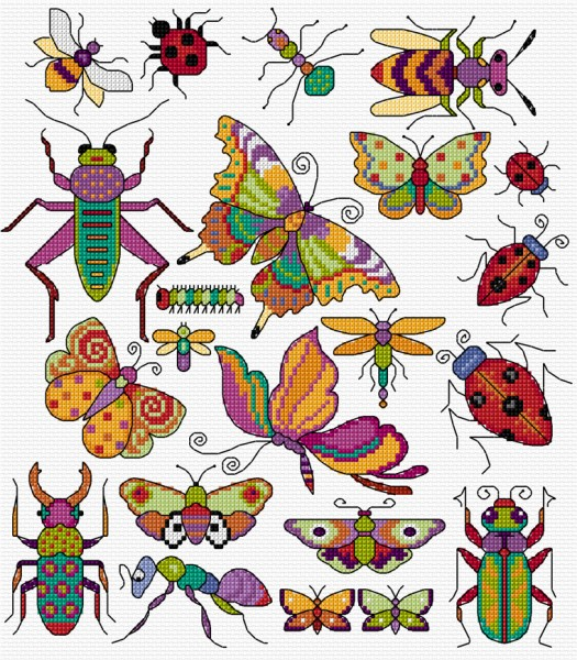 Cross stitch bugs & butterflies