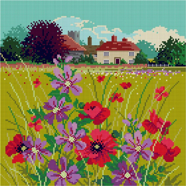 Cross Stitch Summer cottage