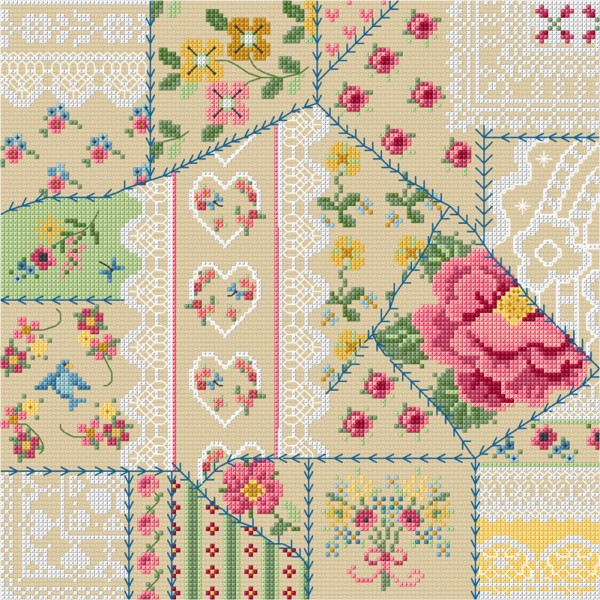 Cross stitch vintage pattern