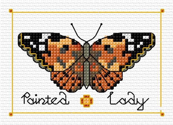 Painted Lady buttefly cross stitch
