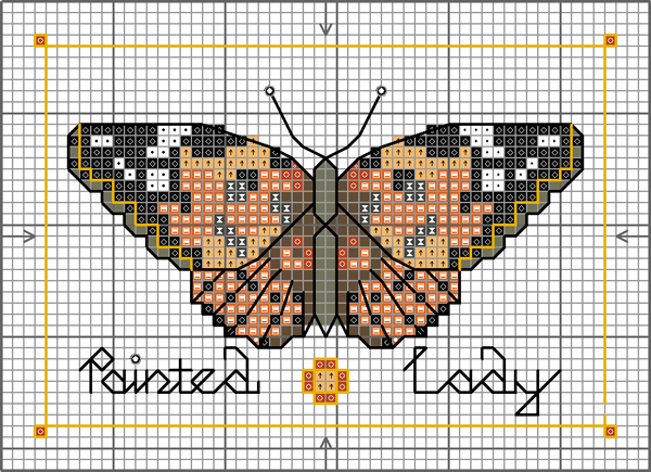 Painted Lady buttefly chart