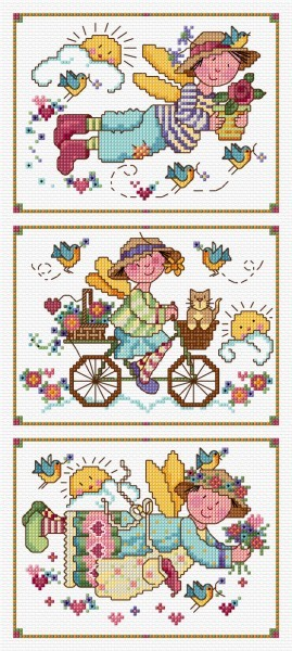 Cross stitch folk art