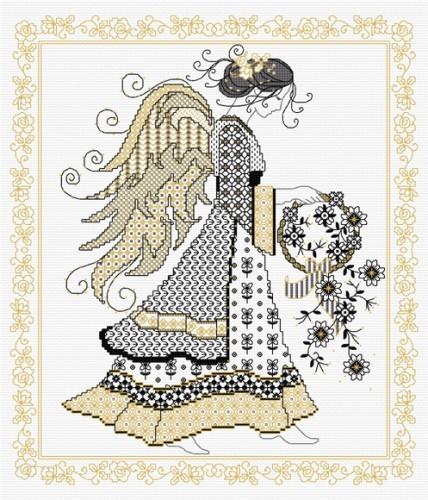 LJT065 Blackwork Angel