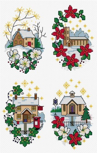 Christmas village cards