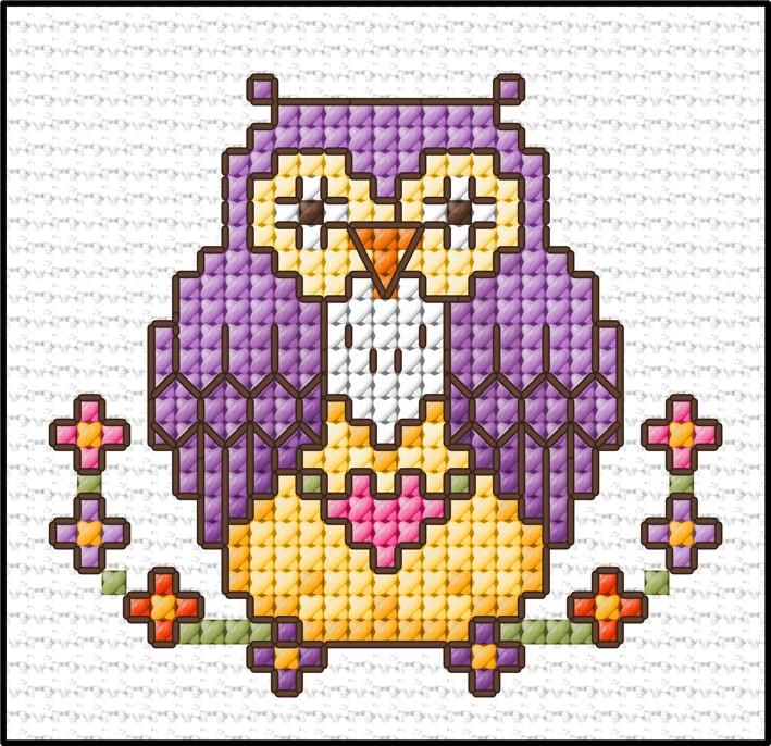 Cross stitch pattern Baby cross stitch pdf pattern Watercolour pattern Country Bird Modern cross stitch. Bird watering flowers