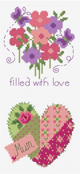Mothers Day Card cross stitch