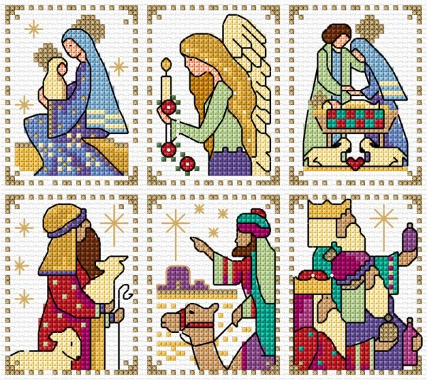 Nativity cards in cross Stitch