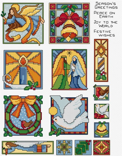 Stained Glass Christmas designs