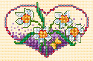 Spring flower cross stitch