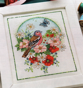Summer Chaffinch Cross Stitch