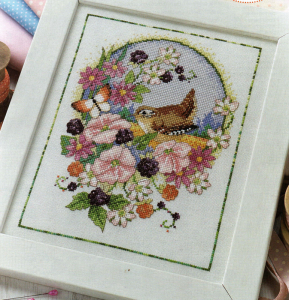 Wren cross stitch