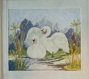 Swan cross stitch