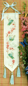 Oriental bell pull cross stitch