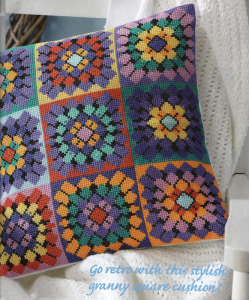 Crochet style cross stitch pattern