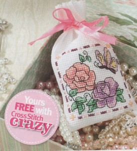 Cross stitch sachet