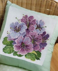 Rhododendron cross stitch