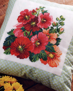 Hollyhock cross stitch