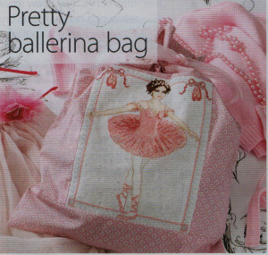 Ballerina bag cross stitch