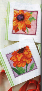 Floral cross stich cards