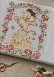 Art Nouveau cross stitch