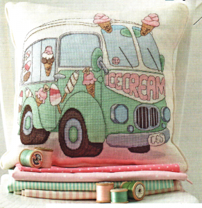 Ice cream van cross stitch