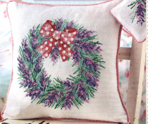 Lavendar cross stitch