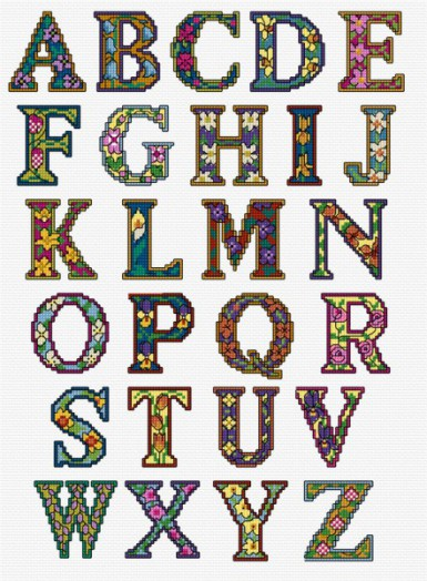 Bright alphabet pattern