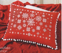 Snowflakes in cross stitch