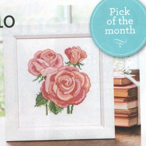 Roses in cross stitch