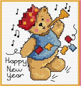 Cross stitch teddy