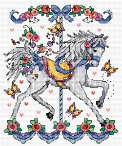 Cross stitch fairground horse