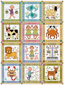Cross stitch zodiac signs