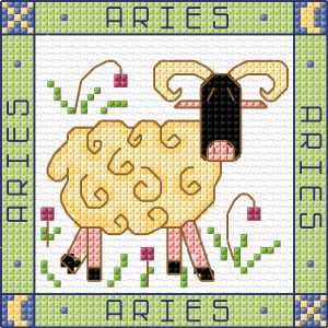 Zodiac Cross Stitich - Aries